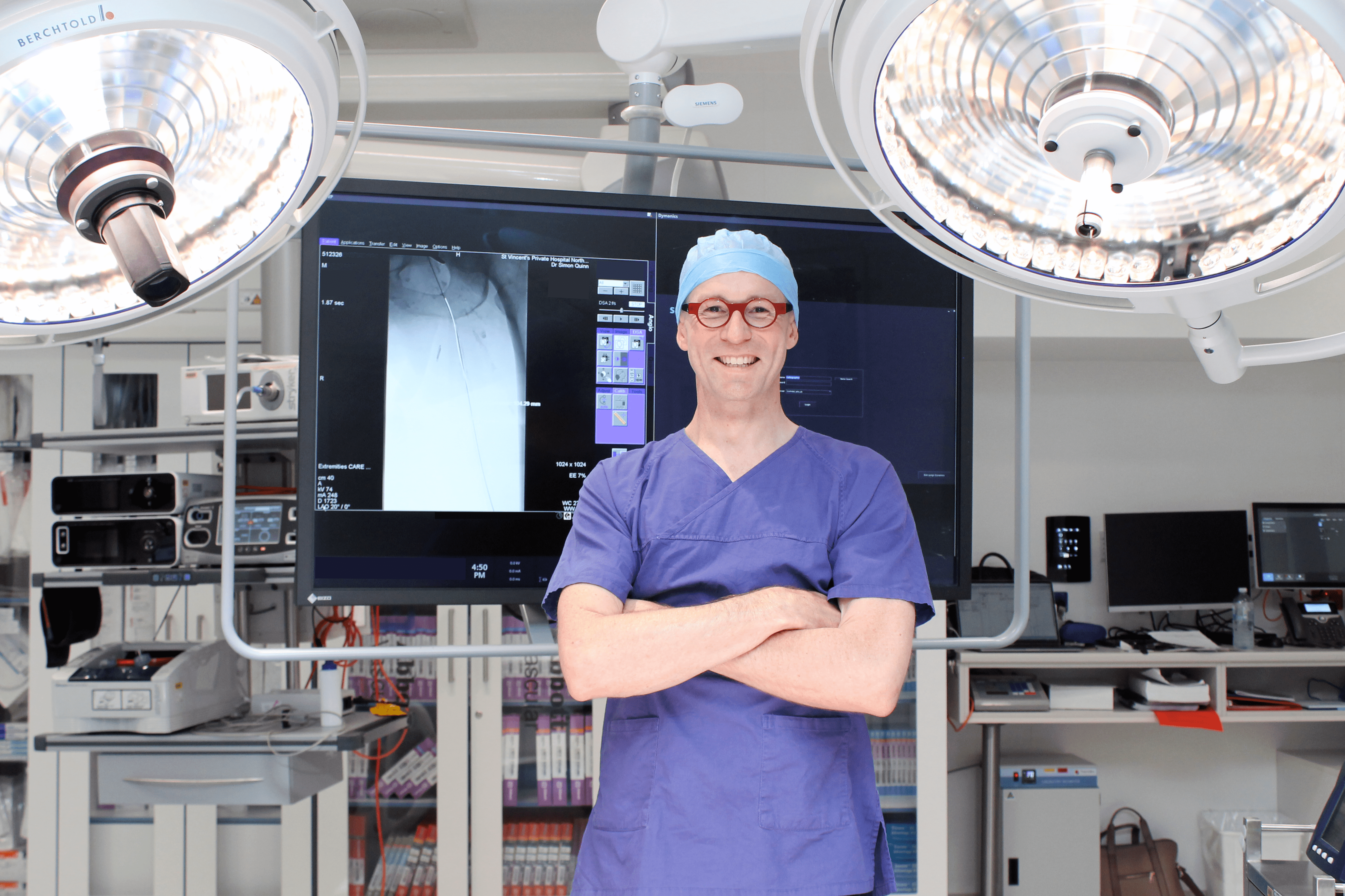 Dr Simon Quinn in hybrid operating theatre